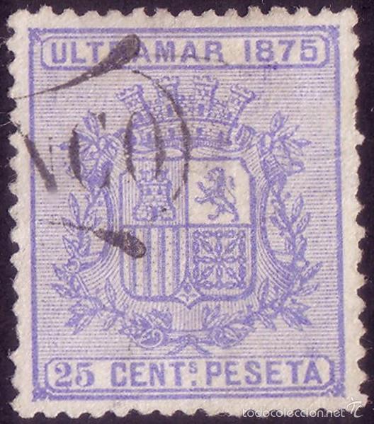 CUBA. (CAT. 32). 25 CTS. MATASELLADO CON LA MARCA * FRANCO *. BONITO Y MUY RARO. (Sellos - España - Colonias Españolas y Dependencias - América - Cuba)