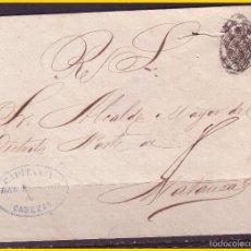 Sellos: CUBA 1858 CORREO OFICIAL, CUBIERTA EDIFIL Nº 7 (O) CABEZAS A MATANZAS. Lote 58083726