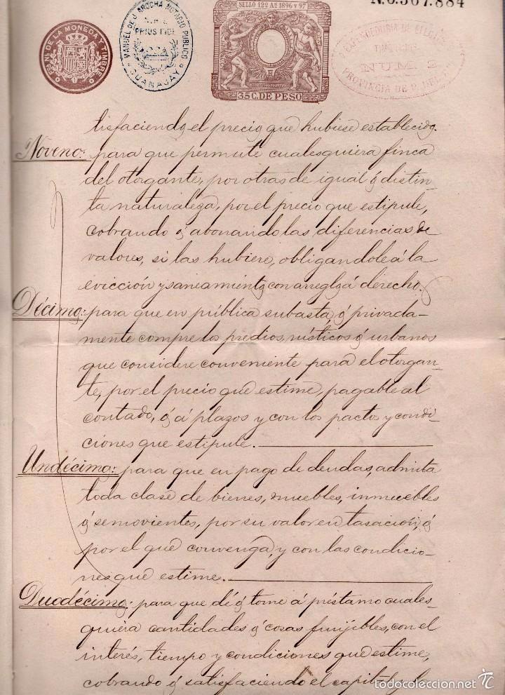 Sellos: L27-22 GUANAJAY (Cuba) Escritura de PODER GENERAL, con SELLO FISCAL DEL COLEGIO NOTARIAL de la Haba - Foto 3 - 58228391