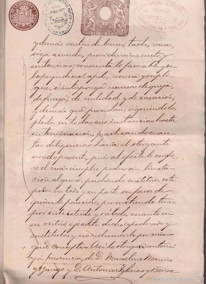 Sellos: L27-22 GUANAJAY (Cuba) Escritura de PODER GENERAL, con SELLO FISCAL DEL COLEGIO NOTARIAL de la Haba - Foto 4 - 58228391