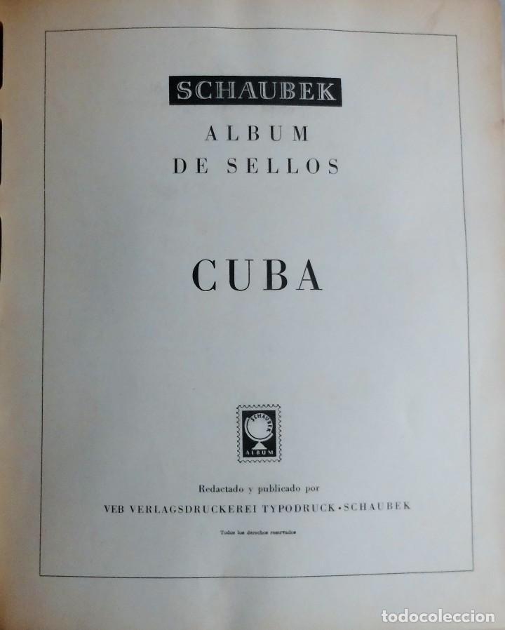 COLECCIÓN CUBA 1959 A 1974 ALBUM DE SELLOS, ÁLBUM SCHAUBEK (Sellos - España - Colonias Españolas y Dependencias - América - Cuba)