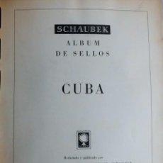Sellos: COLECCIÓN CUBA 1959 A 1974 ALBUM DE SELLOS, ÁLBUM SCHAUBEK. Lote 67036774