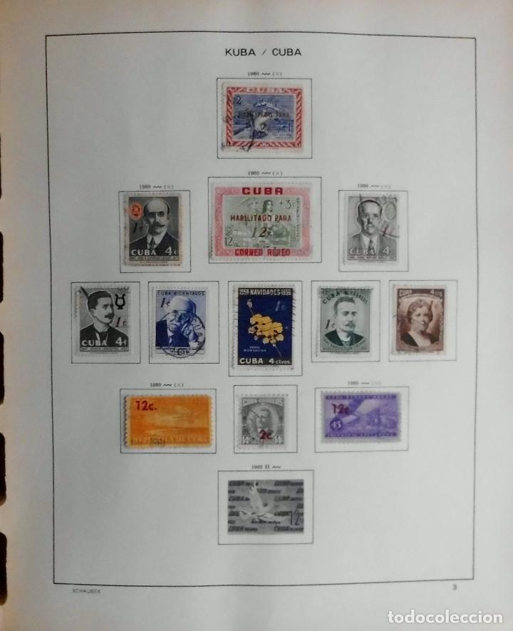 Sellos: COLECCIÓN CUBA 1959 A 1974 ALBUM DE SELLOS, ÁLBUM SCHAUBEK - Foto 4 - 67036774