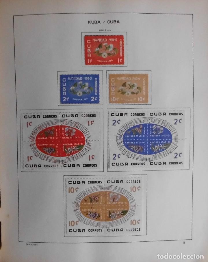 Sellos: COLECCIÓN CUBA 1959 A 1974 ALBUM DE SELLOS, ÁLBUM SCHAUBEK - Foto 6 - 67036774