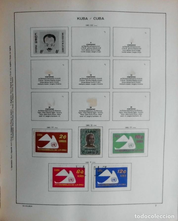 Sellos: COLECCIÓN CUBA 1959 A 1974 ALBUM DE SELLOS, ÁLBUM SCHAUBEK - Foto 8 - 67036774
