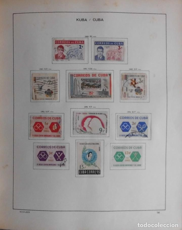 Sellos: COLECCIÓN CUBA 1959 A 1974 ALBUM DE SELLOS, ÁLBUM SCHAUBEK - Foto 15 - 67036774