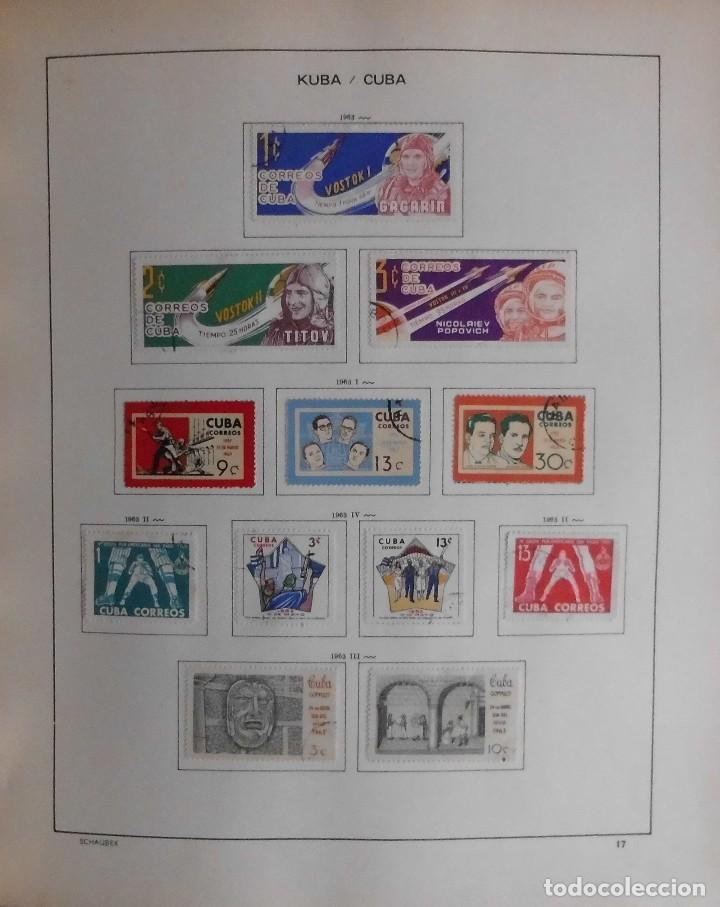 Sellos: COLECCIÓN CUBA 1959 A 1974 ALBUM DE SELLOS, ÁLBUM SCHAUBEK - Foto 18 - 67036774