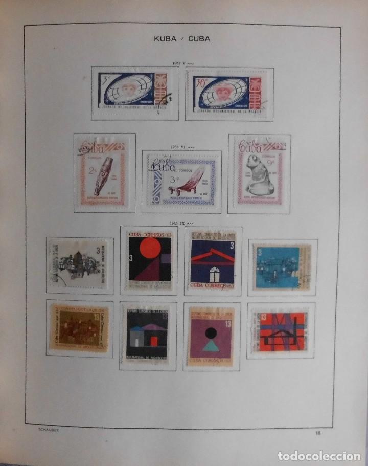 Sellos: COLECCIÓN CUBA 1959 A 1974 ALBUM DE SELLOS, ÁLBUM SCHAUBEK - Foto 19 - 67036774