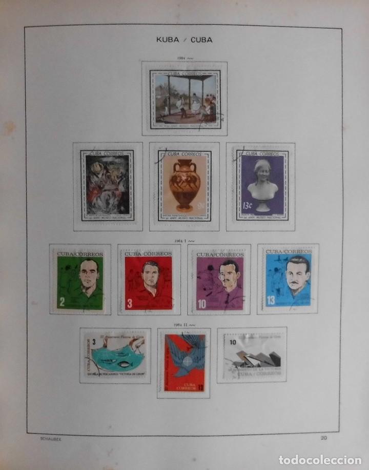 Sellos: COLECCIÓN CUBA 1959 A 1974 ALBUM DE SELLOS, ÁLBUM SCHAUBEK - Foto 21 - 67036774
