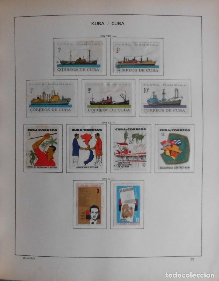 Sellos: COLECCIÓN CUBA 1959 A 1974 ALBUM DE SELLOS, ÁLBUM SCHAUBEK - Foto 23 - 67036774