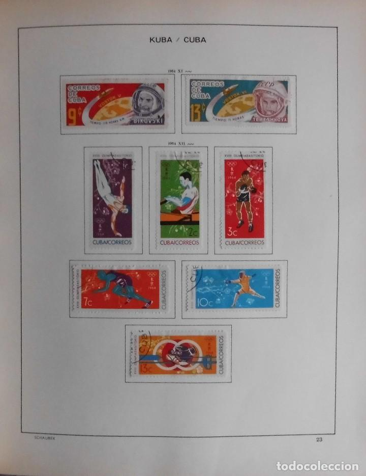 Sellos: COLECCIÓN CUBA 1959 A 1974 ALBUM DE SELLOS, ÁLBUM SCHAUBEK - Foto 24 - 67036774
