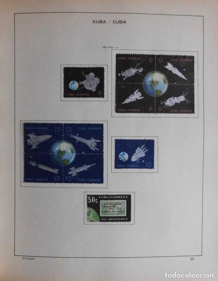 Sellos: COLECCIÓN CUBA 1959 A 1974 ALBUM DE SELLOS, ÁLBUM SCHAUBEK - Foto 26 - 67036774