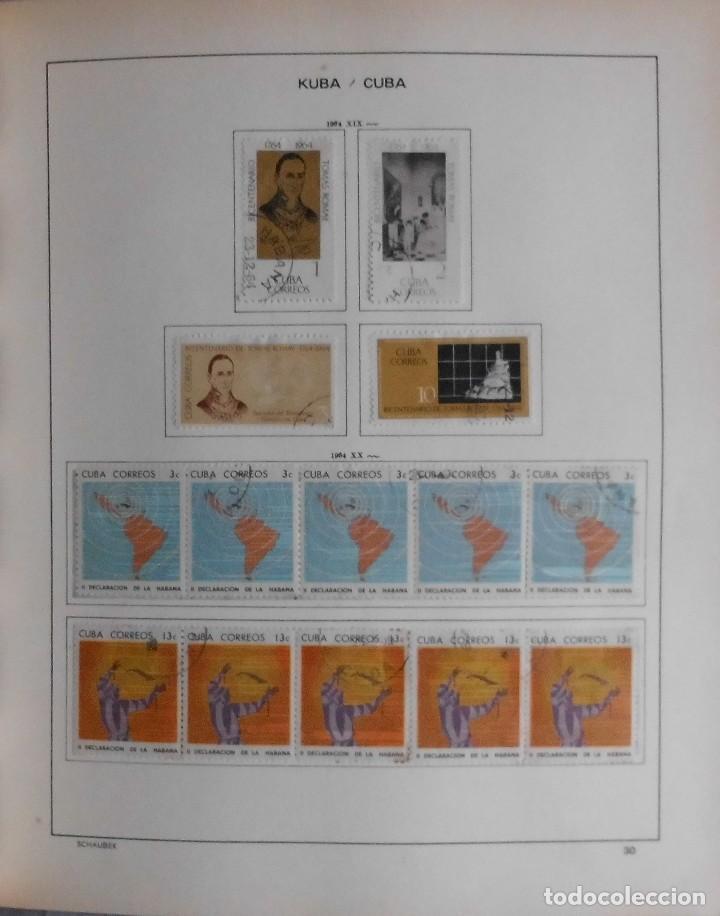 Sellos: COLECCIÓN CUBA 1959 A 1974 ALBUM DE SELLOS, ÁLBUM SCHAUBEK - Foto 31 - 67036774