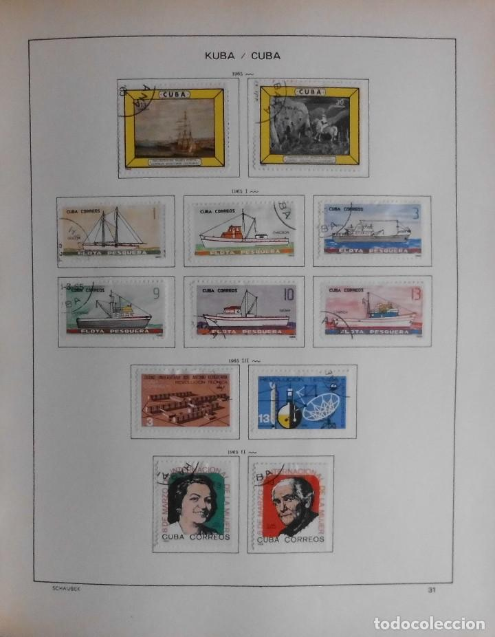 Sellos: COLECCIÓN CUBA 1959 A 1974 ALBUM DE SELLOS, ÁLBUM SCHAUBEK - Foto 32 - 67036774