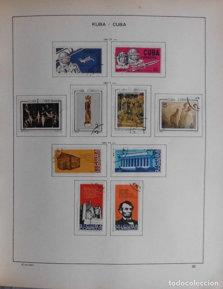 Sellos: COLECCIÓN CUBA 1959 A 1974 ALBUM DE SELLOS, ÁLBUM SCHAUBEK - Foto 33 - 67036774