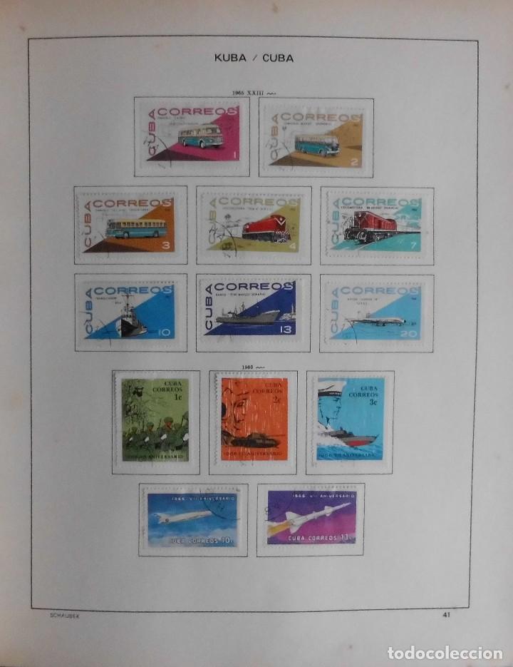Sellos: COLECCIÓN CUBA 1959 A 1974 ALBUM DE SELLOS, ÁLBUM SCHAUBEK - Foto 42 - 67036774