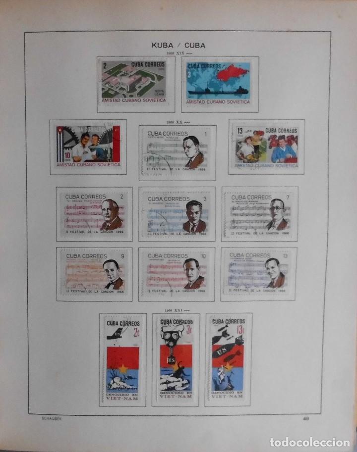 Sellos: COLECCIÓN CUBA 1959 A 1974 ALBUM DE SELLOS, ÁLBUM SCHAUBEK - Foto 50 - 67036774