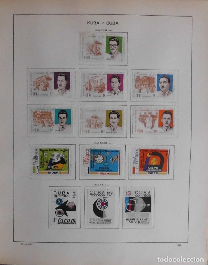 Sellos: COLECCIÓN CUBA 1959 A 1974 ALBUM DE SELLOS, ÁLBUM SCHAUBEK - Foto 51 - 67036774