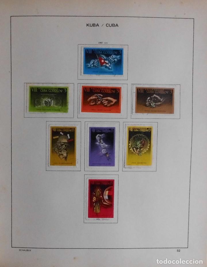 Sellos: COLECCIÓN CUBA 1959 A 1974 ALBUM DE SELLOS, ÁLBUM SCHAUBEK - Foto 53 - 67036774