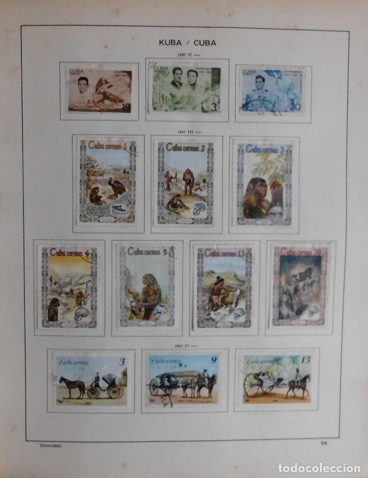 Sellos: COLECCIÓN CUBA 1959 A 1974 ALBUM DE SELLOS, ÁLBUM SCHAUBEK - Foto 55 - 67036774