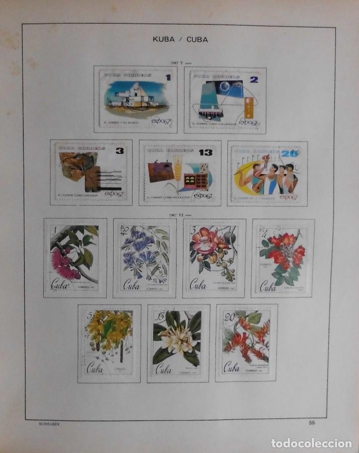 Sellos: COLECCIÓN CUBA 1959 A 1974 ALBUM DE SELLOS, ÁLBUM SCHAUBEK - Foto 56 - 67036774