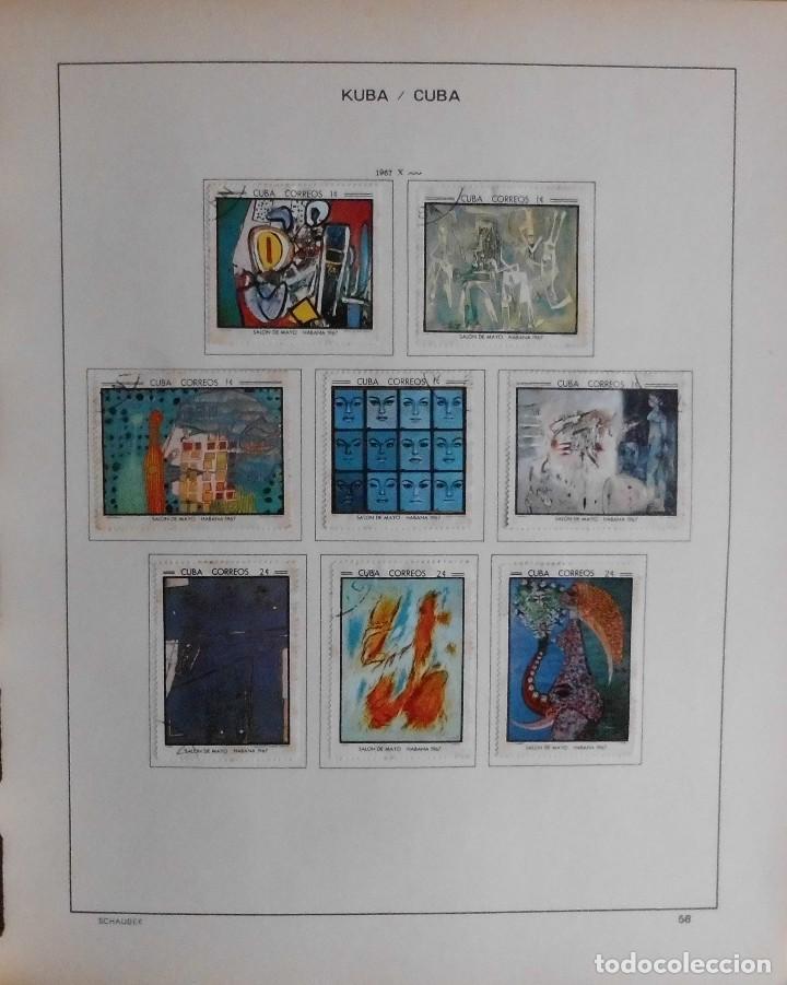 Sellos: COLECCIÓN CUBA 1959 A 1974 ALBUM DE SELLOS, ÁLBUM SCHAUBEK - Foto 59 - 67036774