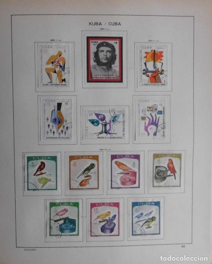 Sellos: COLECCIÓN CUBA 1959 A 1974 ALBUM DE SELLOS, ÁLBUM SCHAUBEK - Foto 65 - 67036774