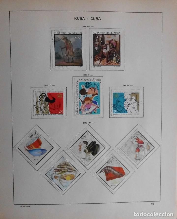 Sellos: COLECCIÓN CUBA 1959 A 1974 ALBUM DE SELLOS, ÁLBUM SCHAUBEK - Foto 66 - 67036774
