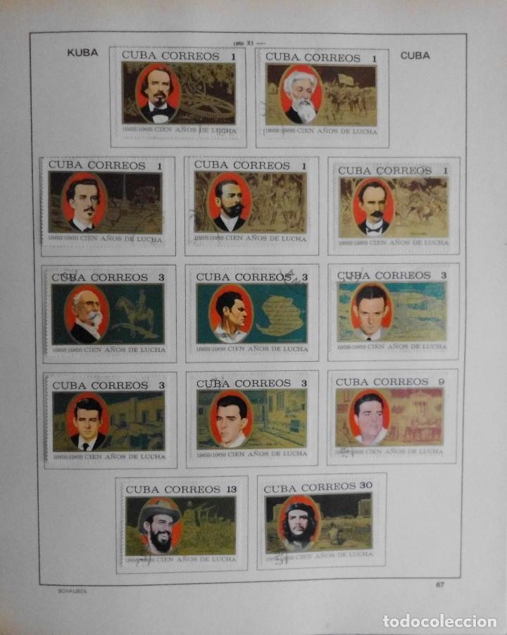 Sellos: COLECCIÓN CUBA 1959 A 1974 ALBUM DE SELLOS, ÁLBUM SCHAUBEK - Foto 68 - 67036774