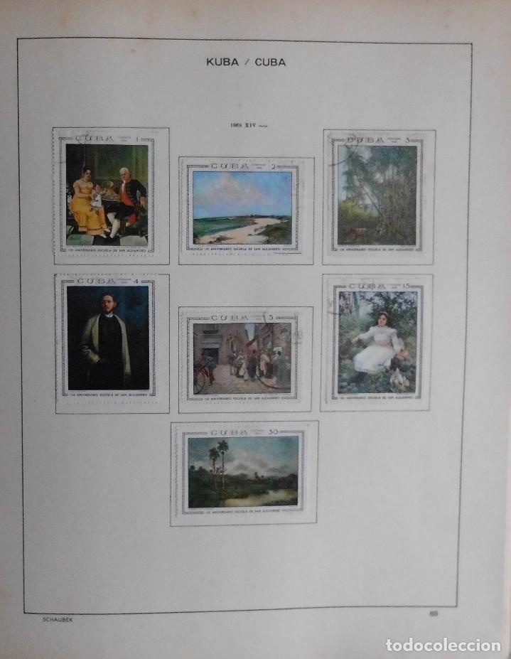 Sellos: COLECCIÓN CUBA 1959 A 1974 ALBUM DE SELLOS, ÁLBUM SCHAUBEK - Foto 70 - 67036774