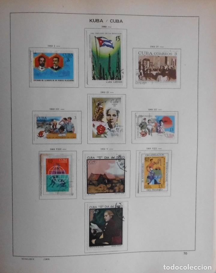 Sellos: COLECCIÓN CUBA 1959 A 1974 ALBUM DE SELLOS, ÁLBUM SCHAUBEK - Foto 71 - 67036774