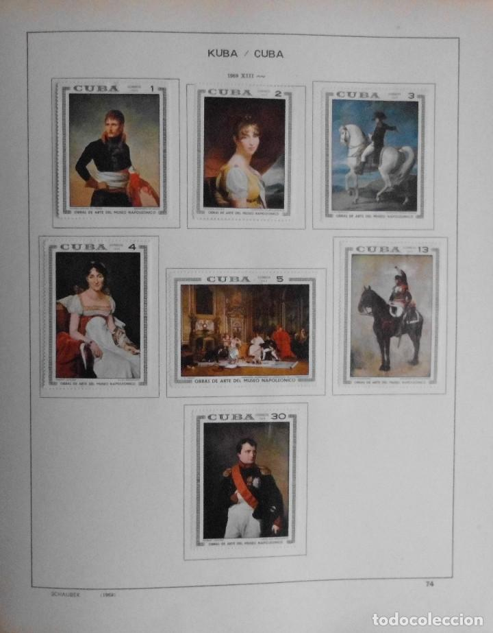 Sellos: COLECCIÓN CUBA 1959 A 1974 ALBUM DE SELLOS, ÁLBUM SCHAUBEK - Foto 75 - 67036774
