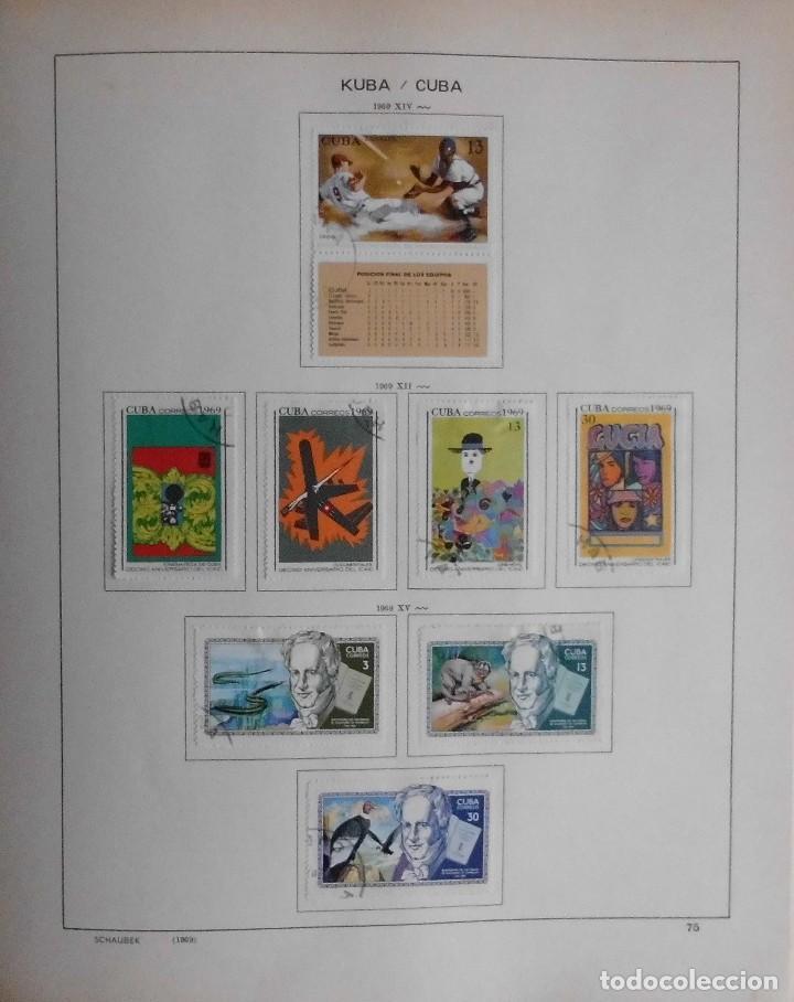 Sellos: COLECCIÓN CUBA 1959 A 1974 ALBUM DE SELLOS, ÁLBUM SCHAUBEK - Foto 76 - 67036774