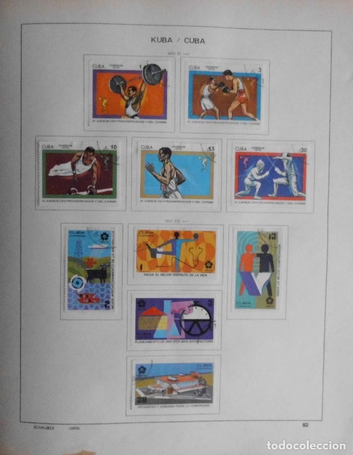 Sellos: COLECCIÓN CUBA 1959 A 1974 ALBUM DE SELLOS, ÁLBUM SCHAUBEK - Foto 83 - 67036774