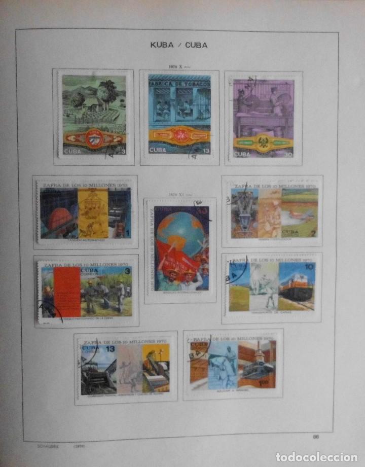 Sellos: COLECCIÓN CUBA 1959 A 1974 ALBUM DE SELLOS, ÁLBUM SCHAUBEK - Foto 87 - 67036774
