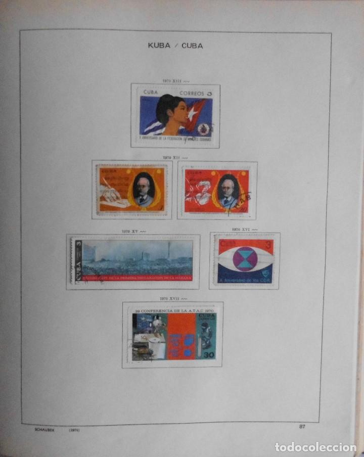 Sellos: COLECCIÓN CUBA 1959 A 1974 ALBUM DE SELLOS, ÁLBUM SCHAUBEK - Foto 88 - 67036774