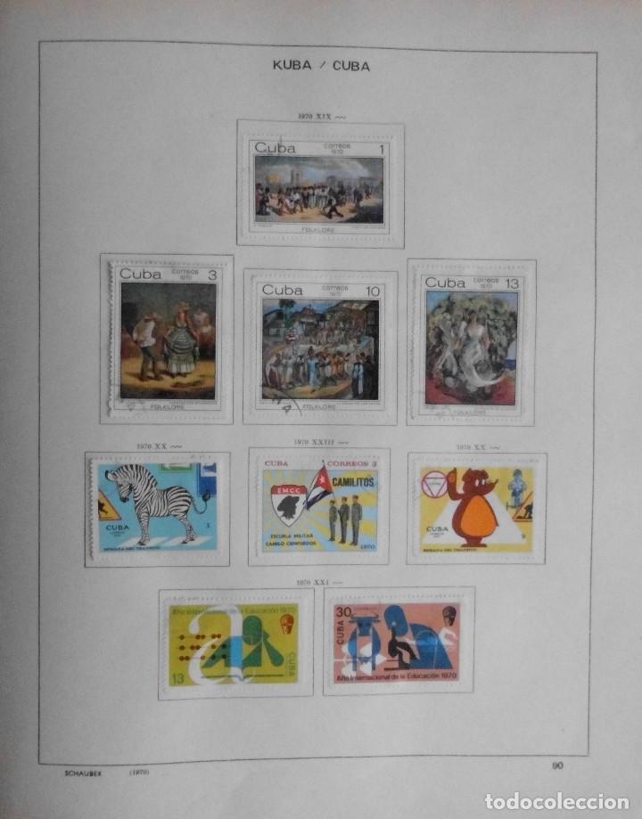 Sellos: COLECCIÓN CUBA 1959 A 1974 ALBUM DE SELLOS, ÁLBUM SCHAUBEK - Foto 91 - 67036774