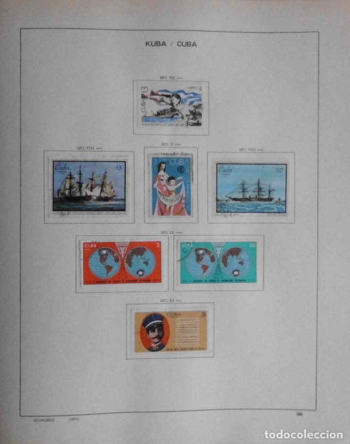 Sellos: COLECCIÓN CUBA 1959 A 1974 ALBUM DE SELLOS, ÁLBUM SCHAUBEK - Foto 97 - 67036774