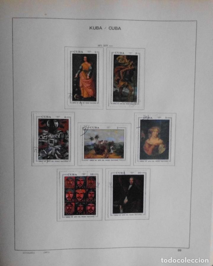 Sellos: COLECCIÓN CUBA 1959 A 1974 ALBUM DE SELLOS, ÁLBUM SCHAUBEK - Foto 100 - 67036774