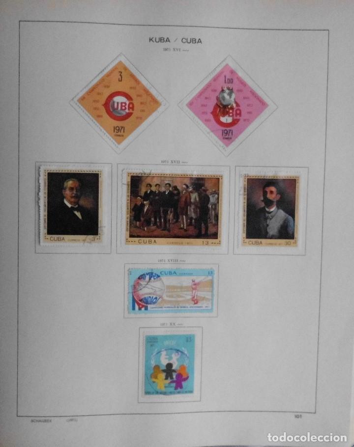Sellos: COLECCIÓN CUBA 1959 A 1974 ALBUM DE SELLOS, ÁLBUM SCHAUBEK - Foto 102 - 67036774