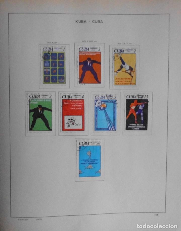 Sellos: COLECCIÓN CUBA 1959 A 1974 ALBUM DE SELLOS, ÁLBUM SCHAUBEK - Foto 115 - 67036774