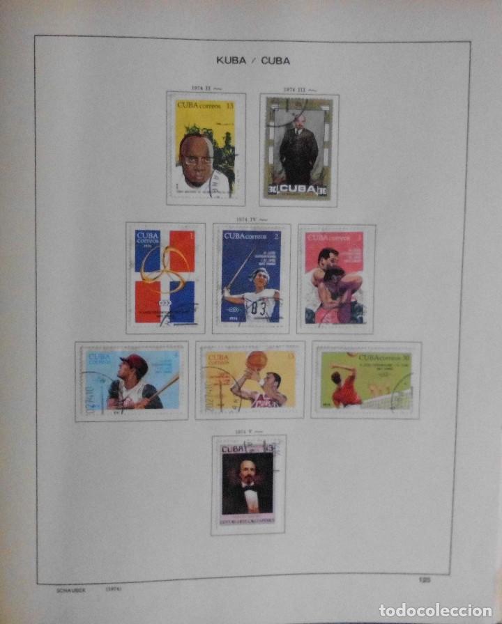 Sellos: COLECCIÓN CUBA 1959 A 1974 ALBUM DE SELLOS, ÁLBUM SCHAUBEK - Foto 126 - 67036774