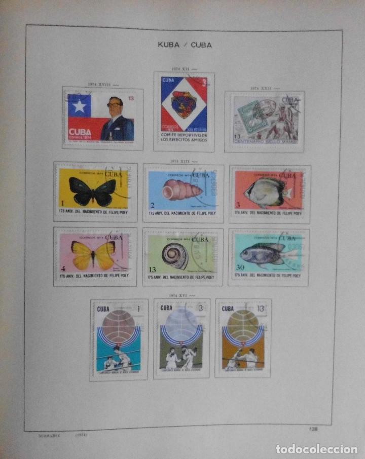 Sellos: COLECCIÓN CUBA 1959 A 1974 ALBUM DE SELLOS, ÁLBUM SCHAUBEK - Foto 129 - 67036774