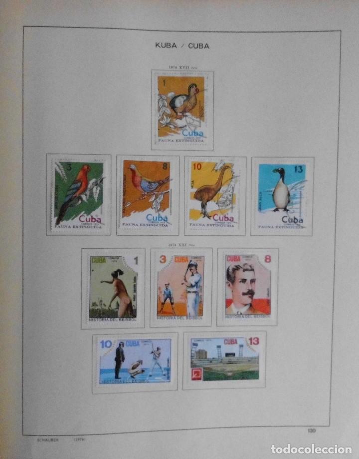 Sellos: COLECCIÓN CUBA 1959 A 1974 ALBUM DE SELLOS, ÁLBUM SCHAUBEK - Foto 130 - 67036774