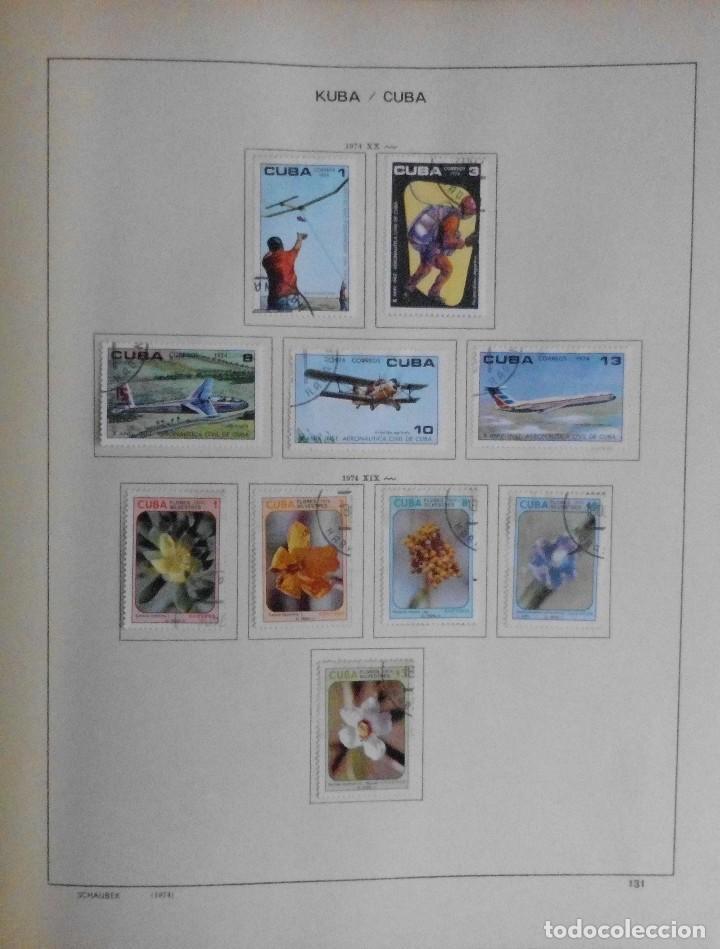 Sellos: COLECCIÓN CUBA 1959 A 1974 ALBUM DE SELLOS, ÁLBUM SCHAUBEK - Foto 131 - 67036774