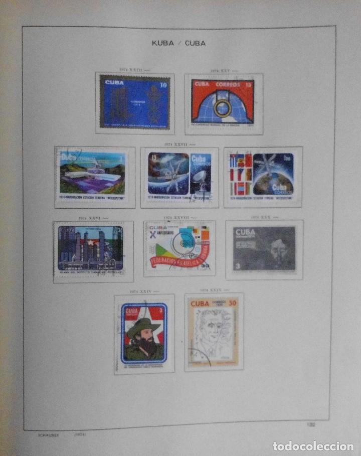 Sellos: COLECCIÓN CUBA 1959 A 1974 ALBUM DE SELLOS, ÁLBUM SCHAUBEK - Foto 132 - 67036774