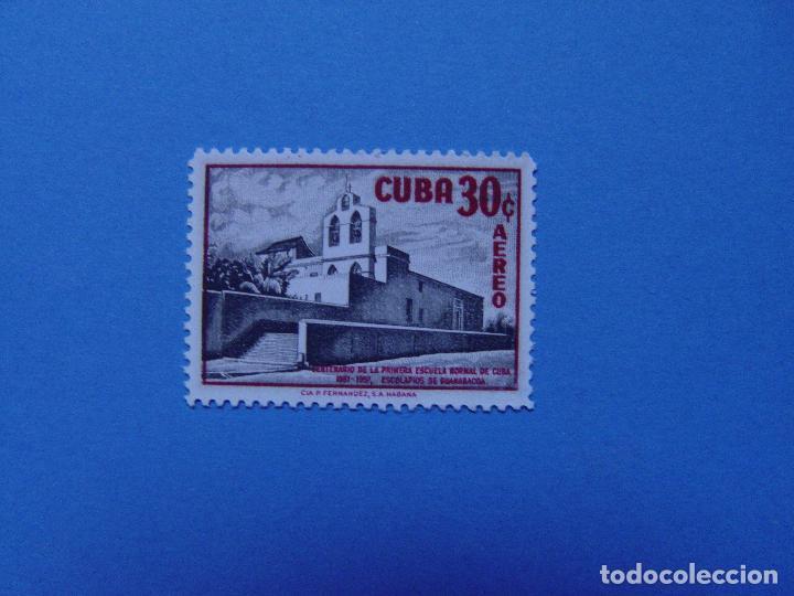 SELLO: 30 CENTAVOS. AÉREO. CUBA (COLEGIO ESCOLAPIOS) (1957) ¡ORIGINAL! SIN USAR. (Sellos - España - Colonias Españolas y Dependencias - América - Cuba)