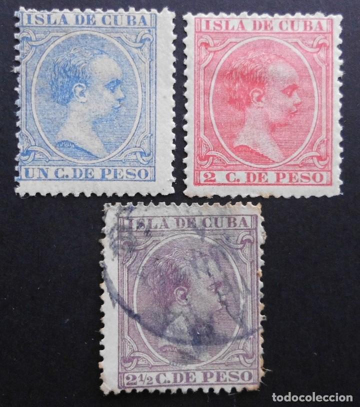 CUBA - ESPAÑA DEPENDENCIAS POSTALES 1894, EDIFIL Nº: 136, 137 Y 138 (Sellos - España - Colonias Españolas y Dependencias - América - Cuba)