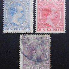 Sellos: CUBA - ESPAÑA DEPENDENCIAS POSTALES 1894, EDIFIL Nº: 136, 137 Y 138. Lote 68939573