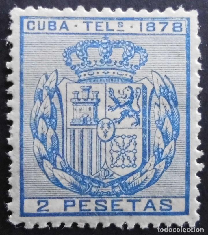 CUBA - ESPAÑA DEPENDENCIAS POSTALES 1878 TELEGRAFOS (Sellos - España - Colonias Españolas y Dependencias - América - Cuba)
